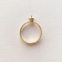 1 τεμ, 6 χλστ Δίσκος, Δαχτυλίδι από Χαλκό για Πέρλα, Ρυθμιζόμενο, Χρυσό