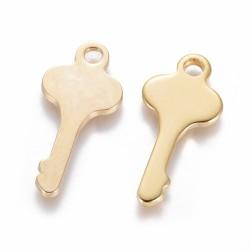 2 τεμ, 24 χλστ, 304 Ανοξείδωτο Ατσάλι, Κλειδί, Κρεμαστό, Χρυσό