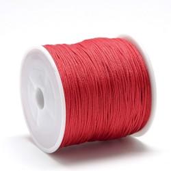 100 μέτρ. ή 1 μετρ, 0.8 χλστ πάχος, Μακραμέ Κερωμένο Σχοινί σε Κόκκινο