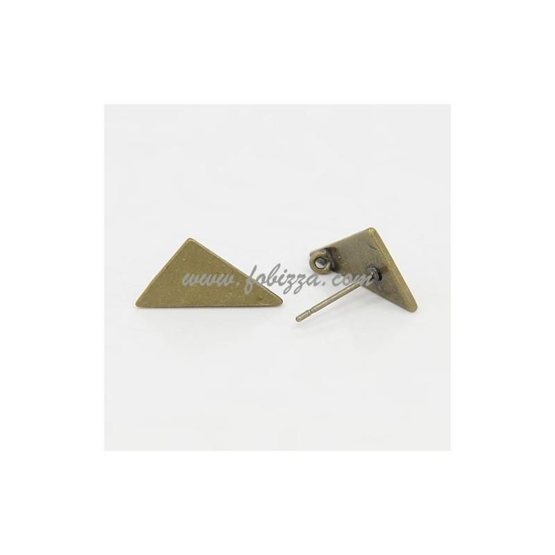 Σκουλαρίκια απο Χαλκό, Χρώμα Μπρούντζου, Μέγεθος: 11 χιλ. πλάτος, 14 χιλ. μήκος, 1χιλ. πάχους